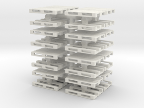 Euro Pallet (x32) 1/87 in White Natural Versatile Plastic