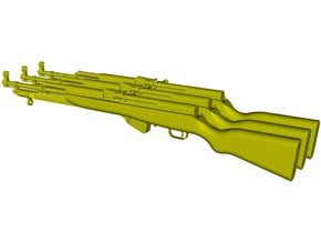 1/12 scale SKS Type 45 rifles & bayo folded x 3 in Smooth Fine Detail Plastic