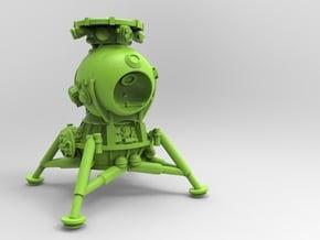 LK lander 1/72 in White Natural Versatile Plastic