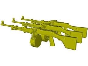 1/12 scale RPD Soviet machineguns x 3 in Smooth Fine Detail Plastic