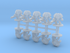 Saturnine Terminators Heavy Weapons 6mm miniatures in Smooth Fine Detail Plastic