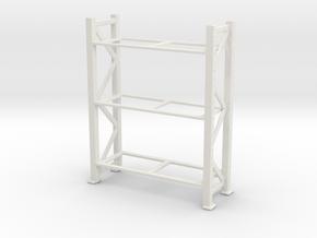 Warehouse Rack 1/56 in White Natural Versatile Plastic