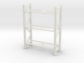 Warehouse Rack 1/64 in White Natural Versatile Plastic