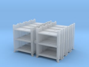 Warehouse Rack (x8) 1/160 in Smooth Fine Detail Plastic