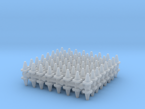 Traffic Cones (x128) 1/500 in Smooth Fine Detail Plastic