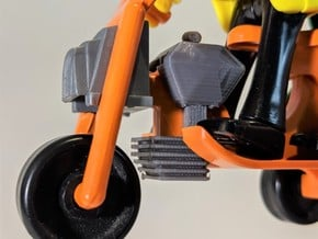 Motorbike engine in Gray PA12