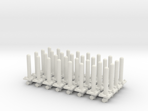 Safety Poles (x32) 1/87 in White Natural Versatile Plastic