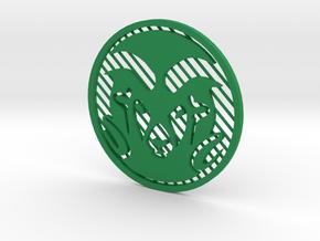 """CSU Ram [3""""] in Green Processed Versatile Plastic"""
