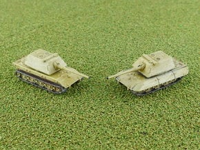 E-100 Heavy Tank Krupp Turret 1/285 in Smooth Fine Detail Plastic
