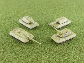 German E-100 Series Tanks 1/285 / 6mm in Smooth Fine Detail Plastic