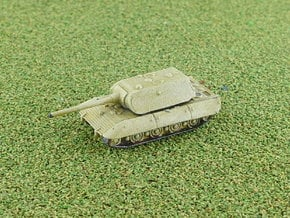 E-100 Heavy Tank  Maus-Turret Variant 1/285 6mm in Smooth Fine Detail Plastic
