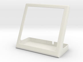 Base for pimoroni HyperPixel and raspberry pi in White Natural Versatile Plastic