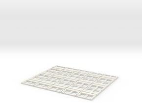 Milwaukee Road Modernized Windows Sleeper (x30) in White Natural Versatile Plastic