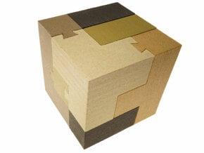 Dovetail Soma Cube in White Natural Versatile Plastic
