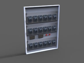fuse box in Smooth Fine Detail Plastic: 1:15