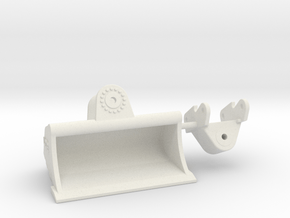Grabenräumlöffel  / grading bucket QC80 2000mm in White Natural Versatile Plastic: 1:50