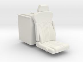Seat on box in White Natural Versatile Plastic: 1:25