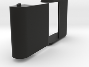 "Folding card holder for 2.5"" square cards in Black Natural Versatile Plastic"