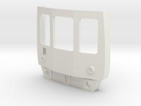 O Gauge Class 104 Cab in White Natural Versatile Plastic