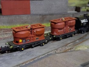 2x N Gauge 20T Prestwin Silo Wagons in Smoothest Fine Detail Plastic