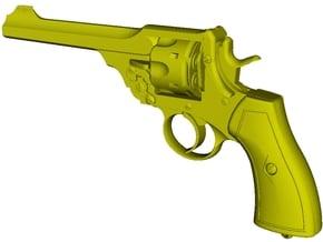 1/12 scale Webley & Scott Mk VI revolver x 1 in Smooth Fine Detail Plastic