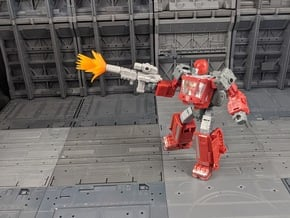 TF Weapon Seige Earthrise Combiner Blaster Set in White Natural Versatile Plastic