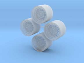 15'' BBS E75 wheels in 1/24 scale in Smooth Fine Detail Plastic