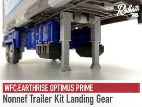 Nonnef Trailer Kit Landing Gear in White Natural Versatile Plastic