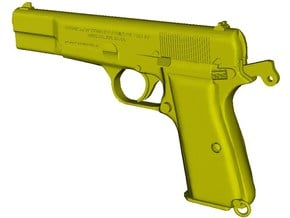 1/12 scale FN Browning Hi Power Mk I pistol A x 1 in Smooth Fine Detail Plastic