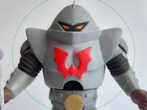 Toon Trooper Armor+Head VINTAGE in White Processed Versatile Plastic
