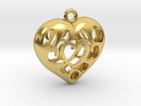 Adventurer's Heart in Polished Brass