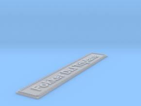 Nameplate Fokker Dr.I Triplane (10 cm) in Smoothest Fine Detail Plastic