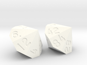 d98 from two dice in White Processed Versatile Plastic