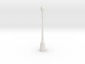 LAMP POST in White Natural Versatile Plastic