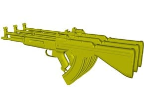 1/12 scale German Korobov TKB-408 rifles x 3 in Smooth Fine Detail Plastic