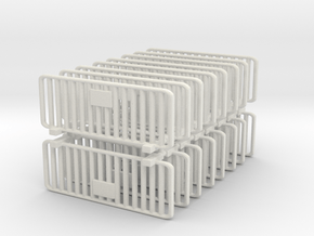 Crowd Control Barrier (x16) 1/87 in White Natural Versatile Plastic