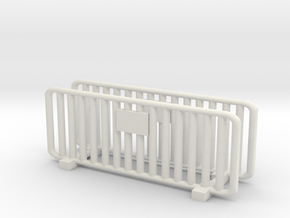 Crowd Control Barrier (x2) 1/56 in White Natural Versatile Plastic