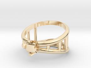 Bottle Opener Ring in 14K Yellow Gold