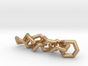 Cycloheptane Conformations Chain in Natural Bronze (Interlocking Parts)