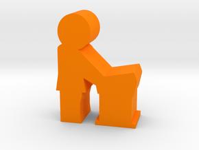 Guy Speaker meeple, side in Orange Processed Versatile Plastic