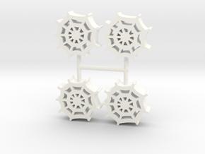 Spiderweb meeple, 4-set in White Processed Versatile Plastic