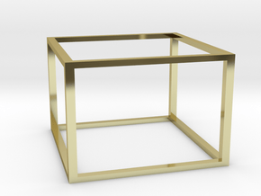 Box in 18k Gold Plated Brass
