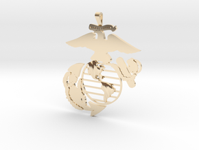 USMC pendant in 14k Gold Plated Brass