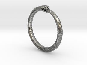 Snake Bracelet_B03 _ Ouroboros in Antique Silver: Small