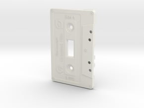 Cassette Light Switch Plate in White Natural Versatile Plastic