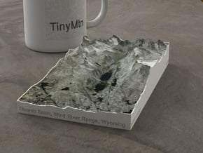Titcomb Valley, Wyoming, USA, 1:50000 in Natural Full Color Sandstone