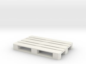 Euro Pallet 1/24 in White Natural Versatile Plastic