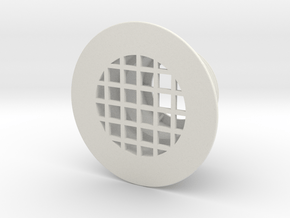 Inlet Strainer Connector (for stock tank pools) in White Natural Versatile Plastic