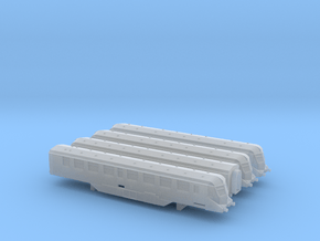 GWR Railcars  - 1 of each - T - 1:450 in Smooth Fine Detail Plastic