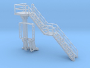 N Scale Tank Car loading Platform 1 Stairs Right in Smooth Fine Detail Plastic